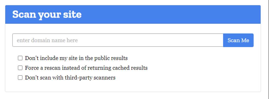 Mozilla Site Scanner